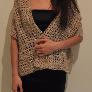 A wool stole with paillettes
