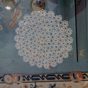 Big tattered doily