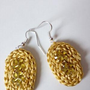 Orecchini gialli  con pietre