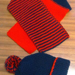 Cappellino  con sciarpa per bambino