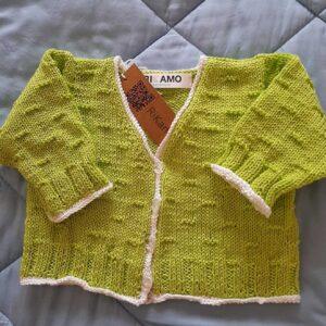 Giacchino verde neonato